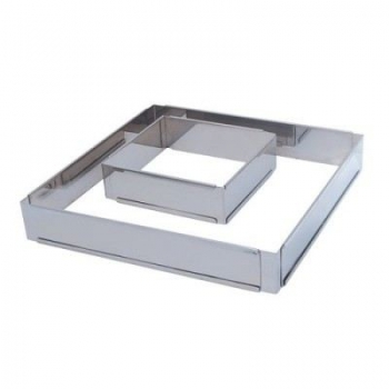 140x140 - Forme ajustable carrée inox De buyer