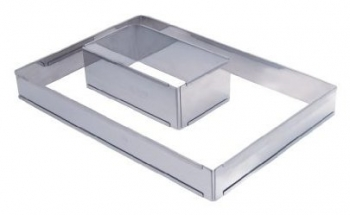 140x86 - Forme ajustable rectangle inox De buyer