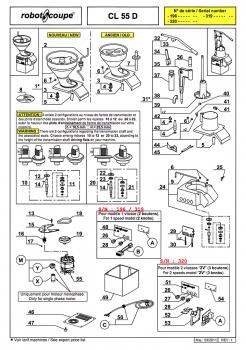 Pieces Detachees Coupe Legumes Robot Coupe Cl55 Auto Robot Coupe
