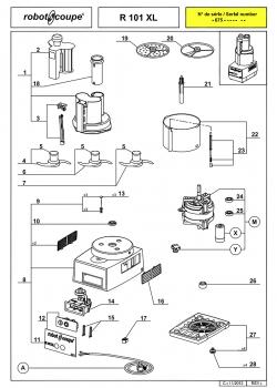 Pieces Detachees Combine Robot Coupe R 101 Xl Cuisin Resto