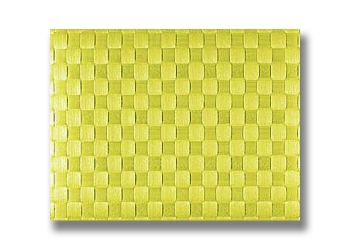 140x100 - Set de table Tressé Citron/Vert Saleen